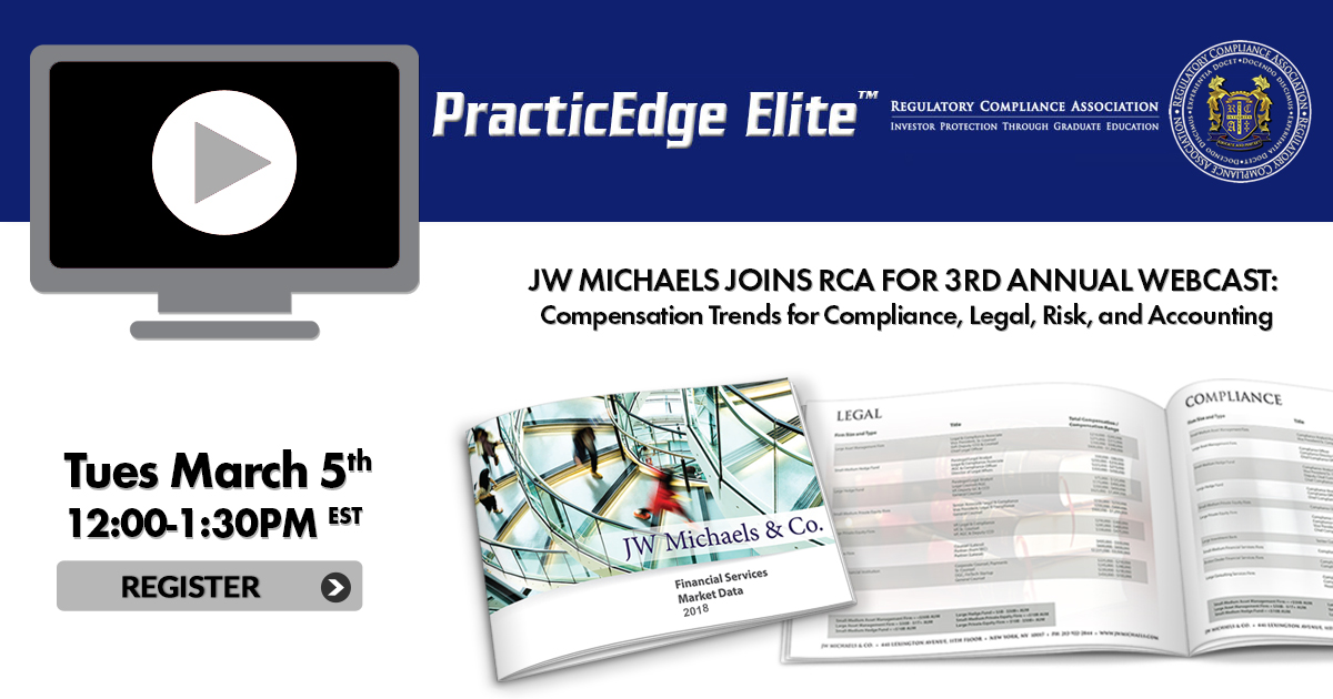 JW Michaels Joins RCA for 3rd Annual PracticeEdge Webcast