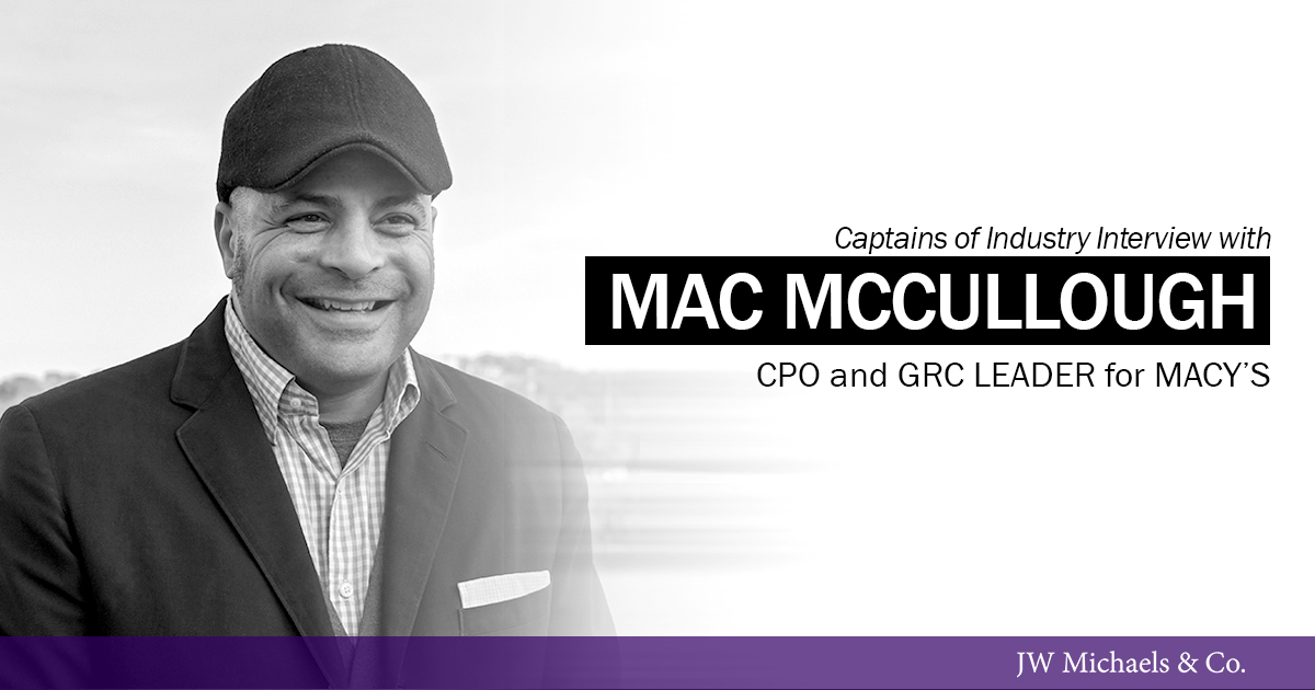 CPO and GRO Leader for Macy's, Michael 'Mac' McCullough